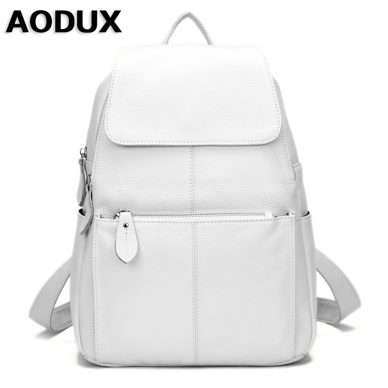 14 Colors 100% Real Genuine Leather Fashion Women's Backpack Girl's Female Top Layer Cow Leather Shopping Casual Backpacks Bag