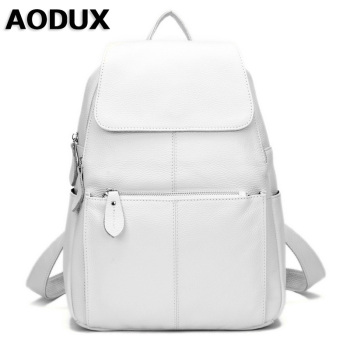 14 Colors 100% Real Genuine Leather Fashion Women's Backpack Girl's Female Top Layer Cow Leather Shopping Casual Backpacks Bag new cow genuine leather men backpacks fashion real natural leather student backpack boy luxury brand lager computer laptop bag