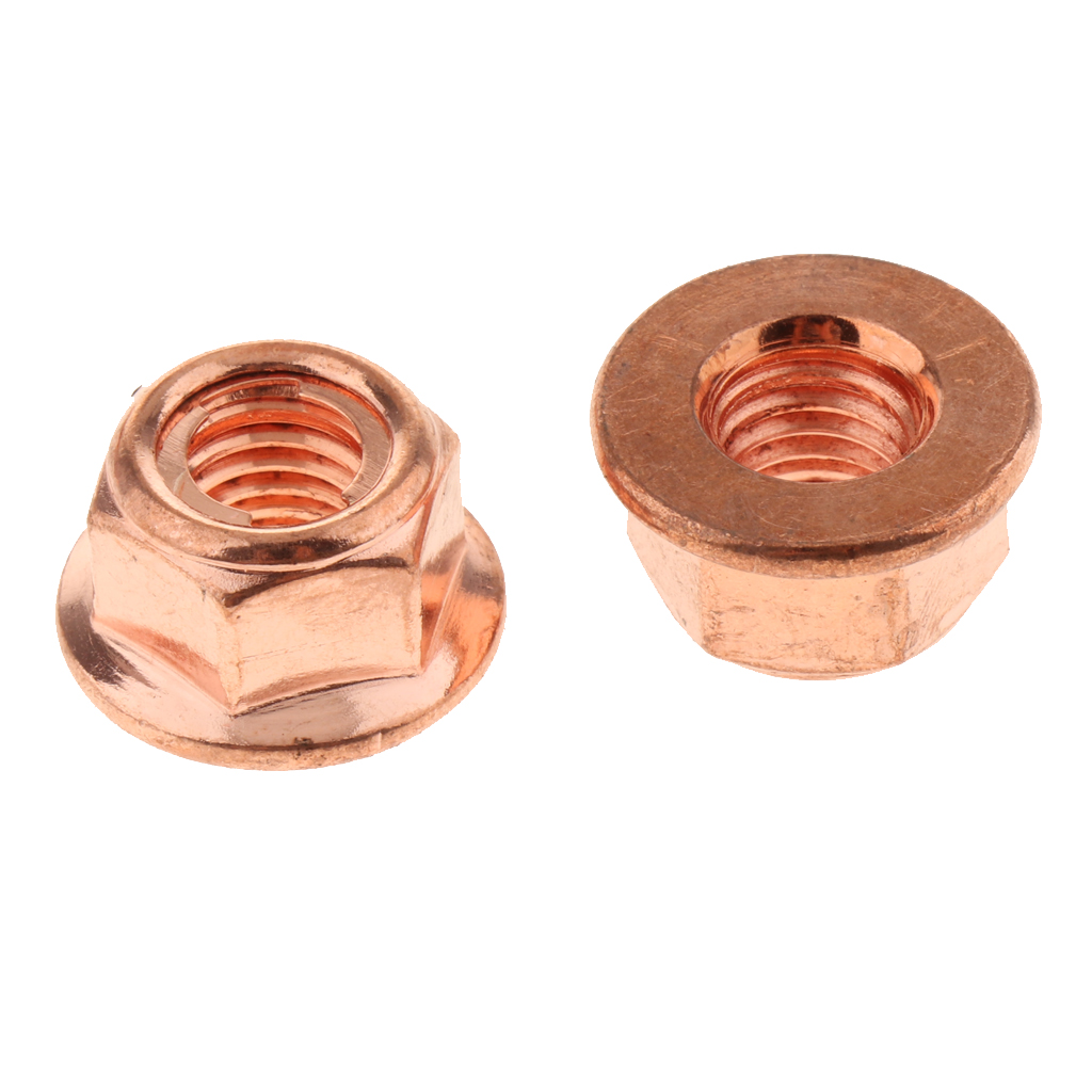 8 x Brass Exhaust Manifold Nuts M10 x 1.25 Pitch High Temperature
