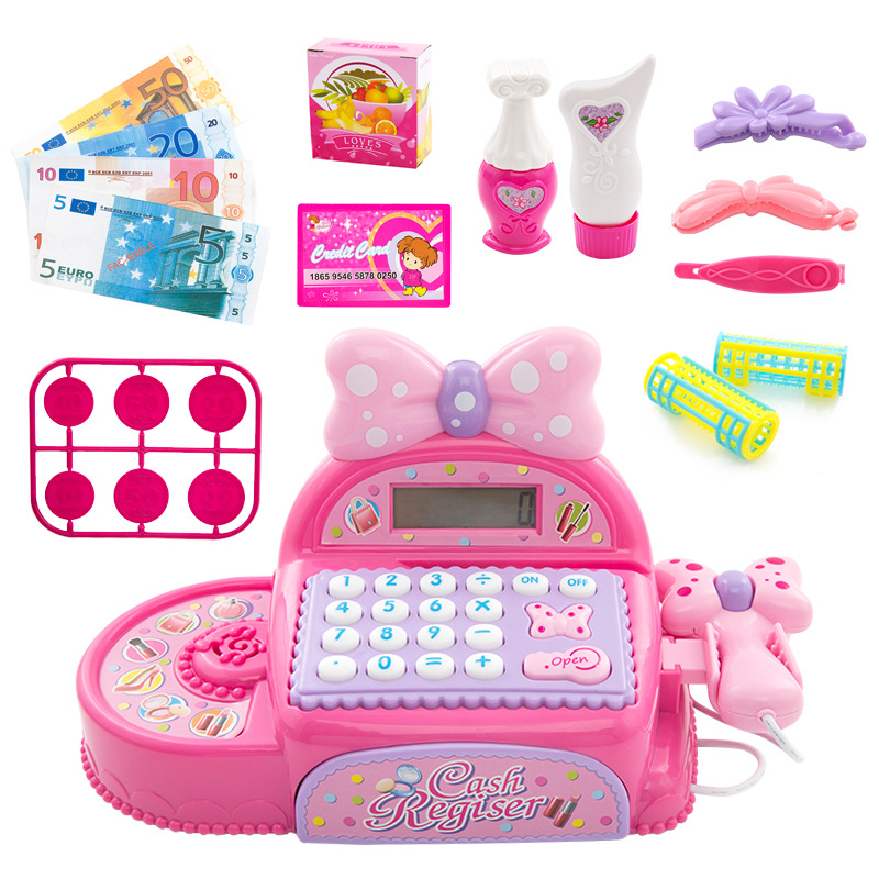Children Real Life Electronic Cash Register Kit Pretend Toy Princess Supermarket checkout Toy Girls Birthday /Christmas Gift Karachi