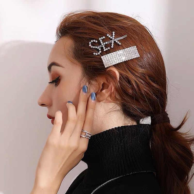 2 Pcs Stick Hair Accessories Hair Clips Barrette Womens Pin Girl Crystal Hairpin