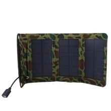 Уличная портативная солнечная панель зеленая 5 Вт Солнечная Складная панель Usb зарядное устройство Кемпинг Туризм мобильный телефон зарядное устройство источник питания power Bank Ou#8
