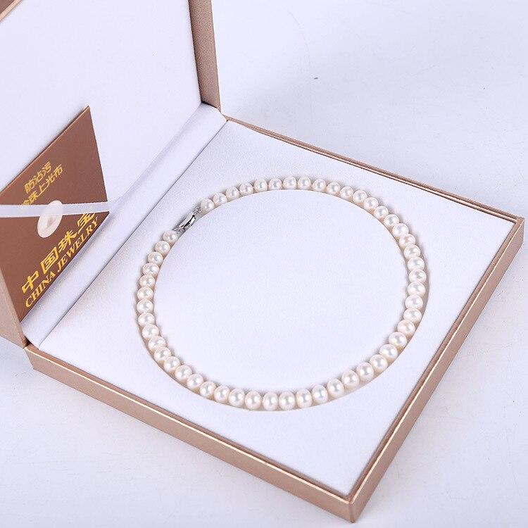 Collier de perles d'eau douce naturel magasin Addy taille 9-10 Mm pour cadeau près de rond et de légers défauts collier de perles en gros