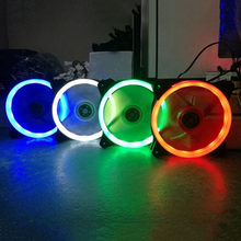 Komputer 120 Mm LED Kipas Pendingin Air 120 Mm Fan Keren Silau Merah Biru Hijau Putih Cooler Fan(China)