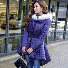 dabuwawa original women clothes new 2016 brand winter thickening slim long ladies women skirt hooded down coat parka wholesale