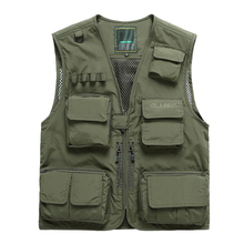 2017 Polyester Fibre Mesh Vest Outdoor For Director Hunting Camping Photographer Fishing Vest Mens Multi Pocket Jacket