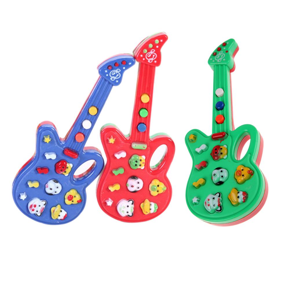mini beb nios guitarra de juguete de plstico de dibujos animados foxy guitarra electrnica rima