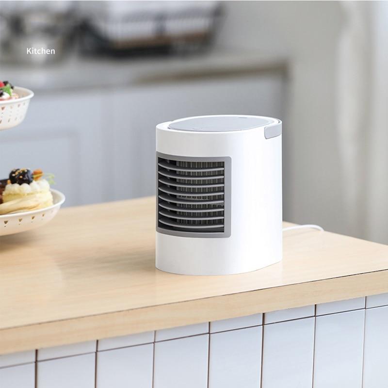 Ventilateur Portable USB Rechargeable ventilateur de refroidissement par Air climatisation refroidi à l'eau ventilateur humidificateur Portable Mini ventilateur de bureau
