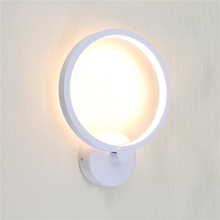 настенный светильник leds c4 wall fixtures 05 0468 14 55 Trendy 60 Leds 15W Round Wall Mounted Indoor Led Wall Sconce Lights Fixtures For Bedroom Bedside Stair Warm/Cold White