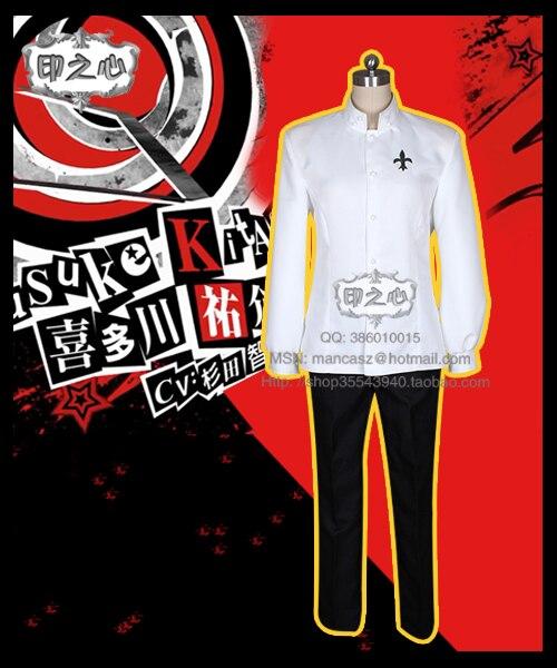 Persona 5 Yusuke Kitagawa Cosplay Costume New Year Dress school uniform Coat+Pants+Belt 2018 persona 5 makoto nijima cosplay costumes women school uniform