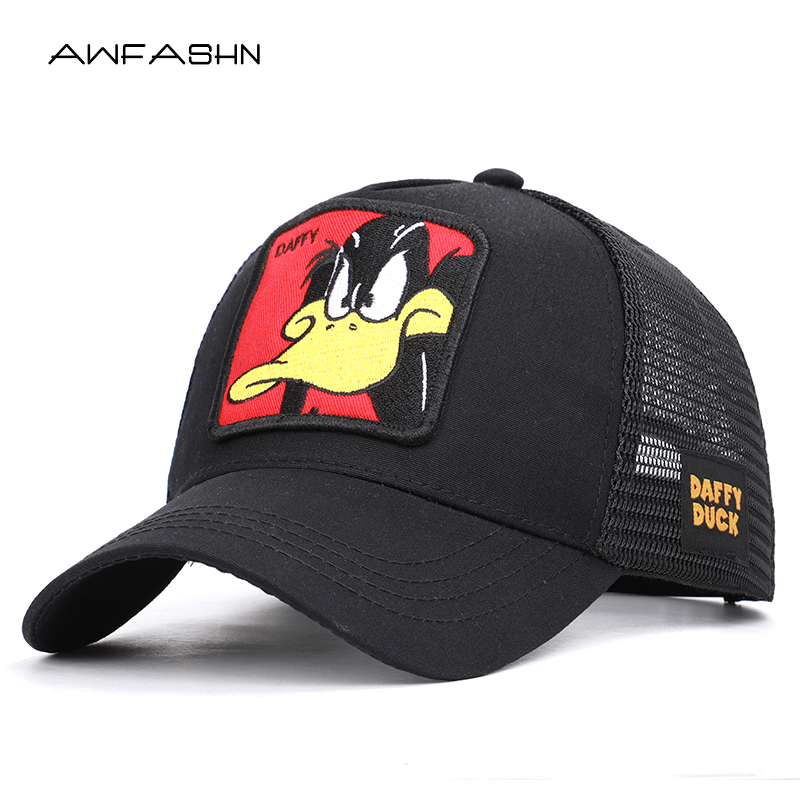Fashion animal embroidery   baseball     caps   men's and women's universal adjustable high quality outdoor shade summer mesh hats bone