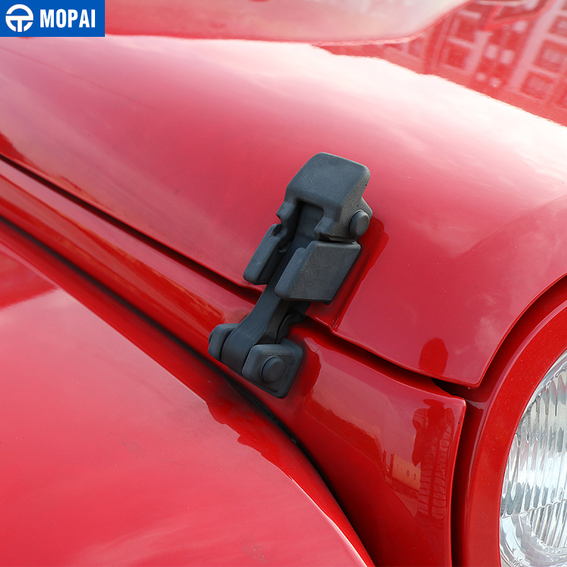1 Paar Hood Lock Latch Catch Car Engine Cover Lock für 2007-18 Jeep Wrangler JK