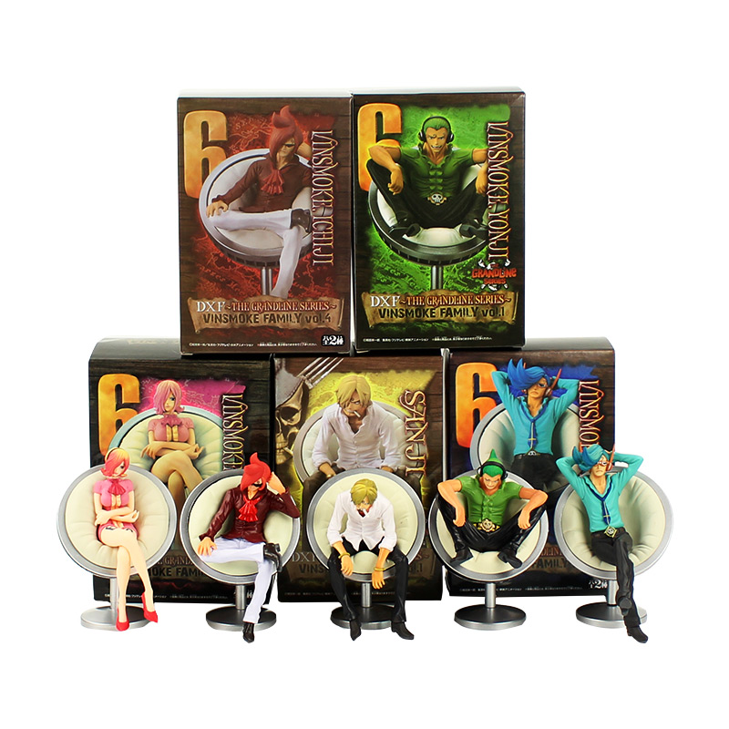 Anime Figurine One Piece DXF The Grandline Series The Vinsmoke Family Sanji Reiju Yonji PVC Action Figures Model Toys Figurals