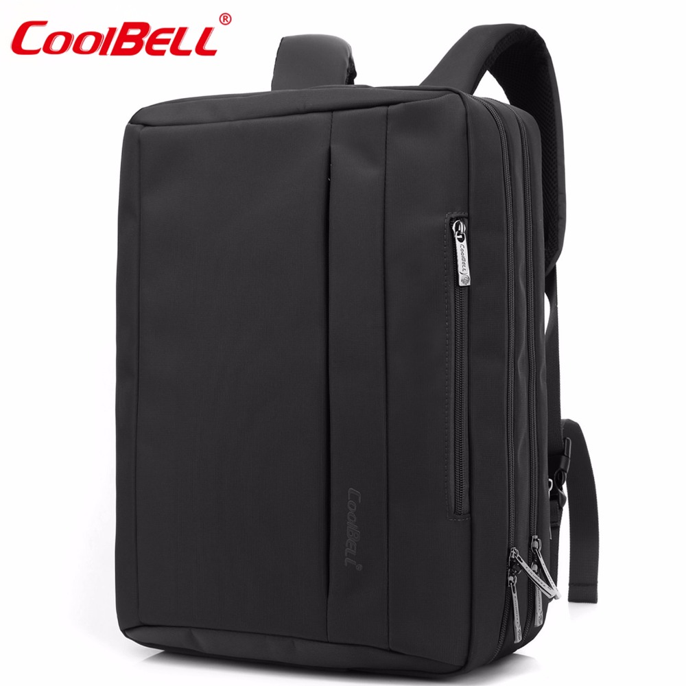CoolBELL 15.6 Inches Convertible Laptop Messenger Bag Shoulder Bag Backpack Oxford Cloth Multi-Functional Briefcase For/ Macbook