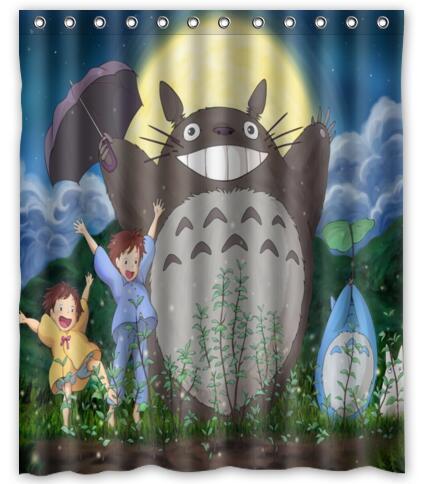 Custom My Neighbor Totoro Shower Curtain Curtains For Bath Bathroom Waterproof Christmas Gift Decoration SC 047