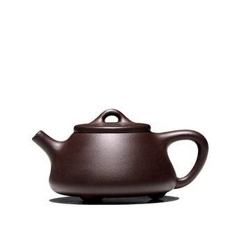 цена на 150cc Yixing pure handmade teapot ZiSha pot home original mine purple mud Stone ladle Chinese Kung Fu tea set gift