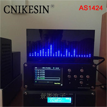 CNIKESIN diy  kit AS1424 professional music spectrum display LED level indicator electronic production kit MIC microphone sense