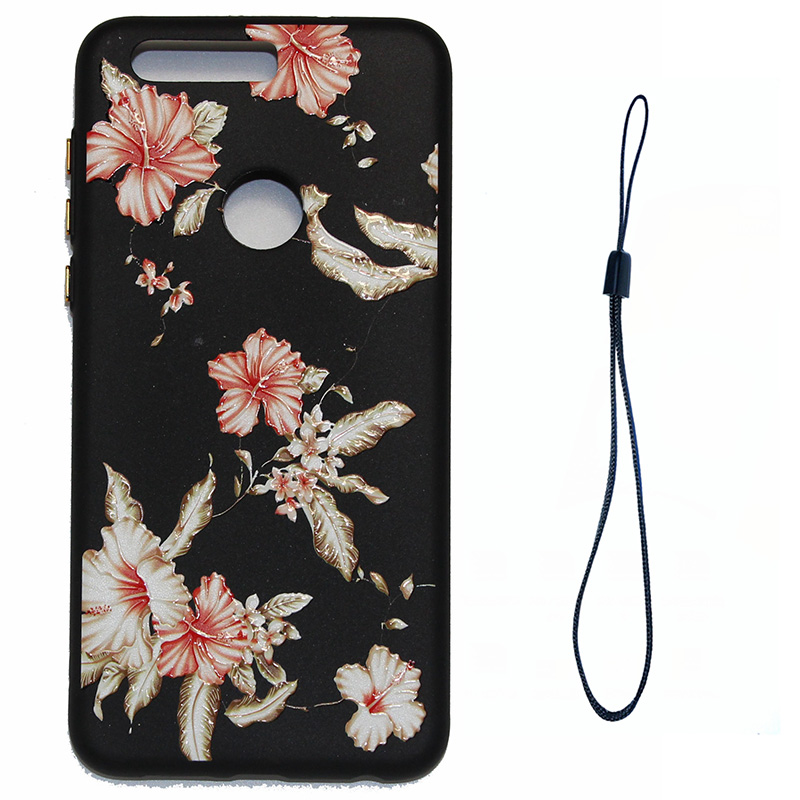 3D Relief flower silicone case huawei honor 8 (5)