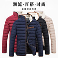 2016 New Men Winter Coat Collar Jacket Leisure Korean Style Fashion Cotton Warm Behalf Popular