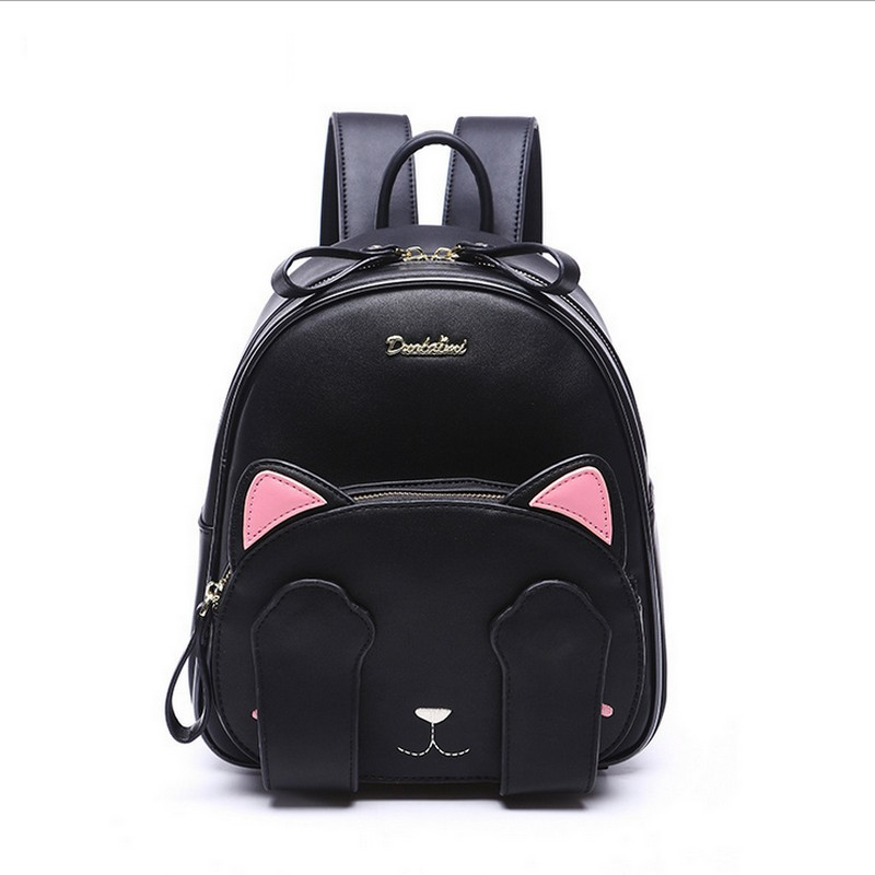 Fashion Backpack Women Pu Leather Back Pack Famous Brand School Bags for Girls sac a dos