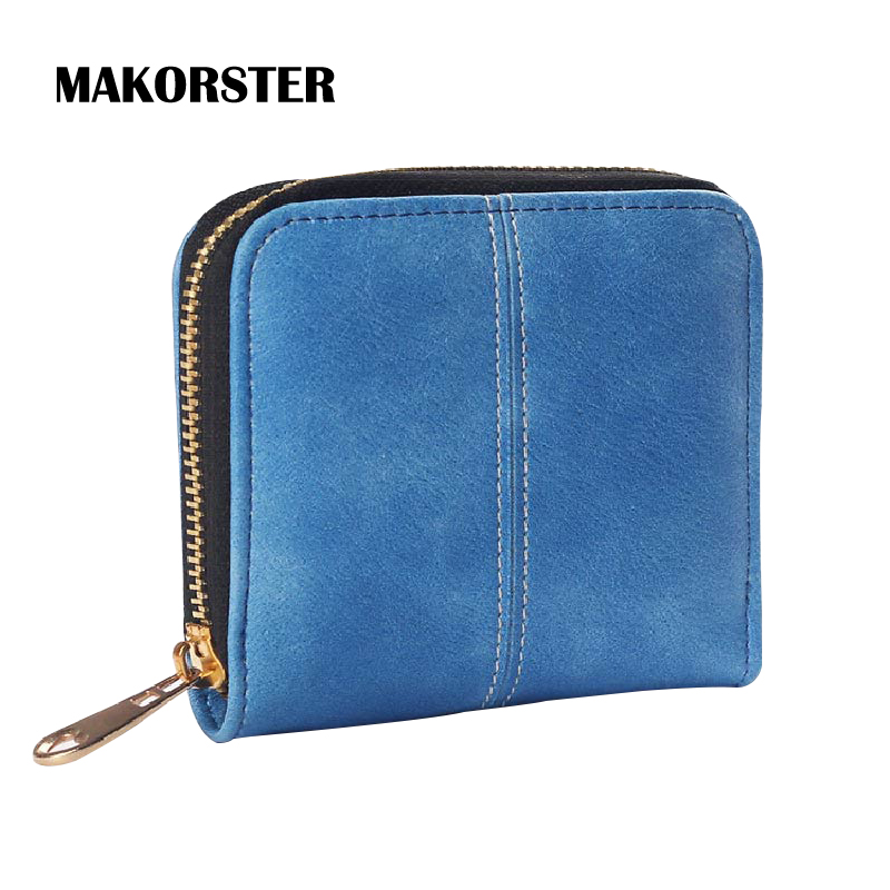 MAKORSTER Fashion Mini Wallet for Women PU Leather Wallets and purses female coin holders luxury brand portefeuille femme XH064 2017 new ladies purses in europe and america long wallet female cards holders cartoon cat pu wallet coin purses girl