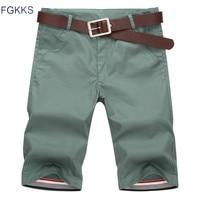 FGKKS 2017 New Summer Fashion Mens Shorts Casual Cotton Slim Bermuda Masculina Beach Shorts Joggers Trousers