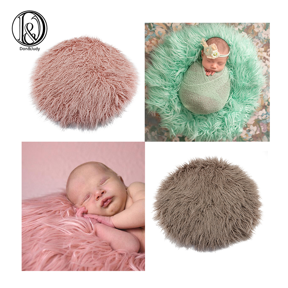 Newborn Faux Fur Blanket Baby Photography Props Blankets Soft Newborn Basket Filler Stuffer Photo Shoot Background Baby Photo