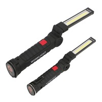 1 COB LED Lamp USB Rechargeable Built In Battery LED Light With Magnet Portable Flashlight Outdoor