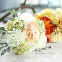 Artificial Peony Bouquet 4colours Holding Flowers Silk white Wedding Bride Bouquetes decorative