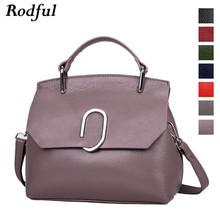Rodful ของแท้หนังผู้หญิงกระเป๋าถือไหล่กระเป๋า 2019 กระเป๋า Crossbody สำหรับสุภาพสตรีแฟชั่นการออกแบบ SHELL กระเป๋าสำหรับสุภาพสตรี