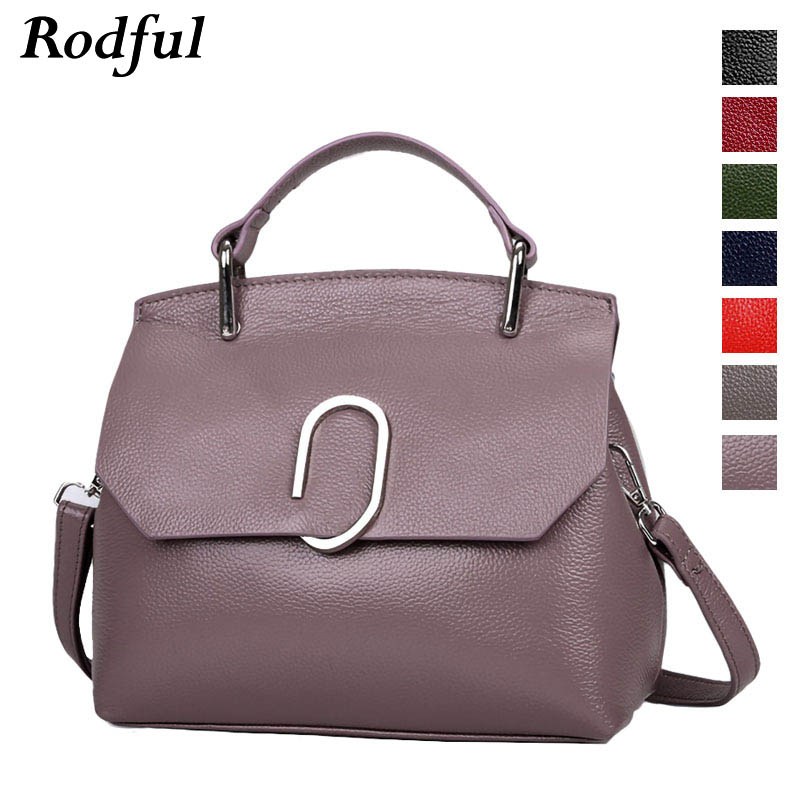 Rodful Genuine Leather Women Handbags Shoulder Bag 2019 Crossbody Bags For Women Ladies Fashion Designs Shell Bags For Ladies