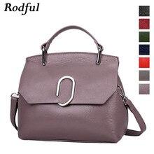 Rodful prawdziwej skóry kobiet torebki torba na ramię 2019 crossbody torby dla kobiet moda damska wzory shell torby dla pań