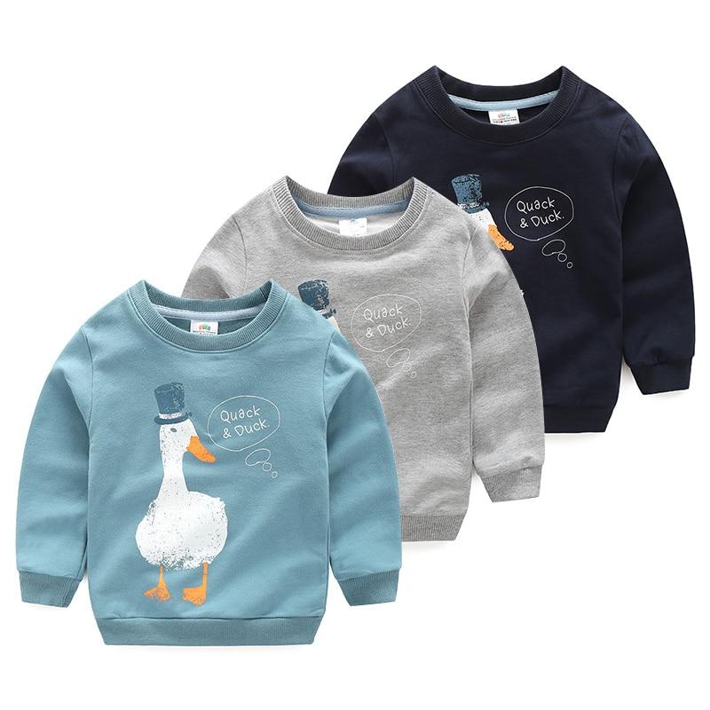 Sweatshirt Animal-Print Baby-Boy Korea-Style Autumn Kids Children's Cartoon Spring Birthday-Gift