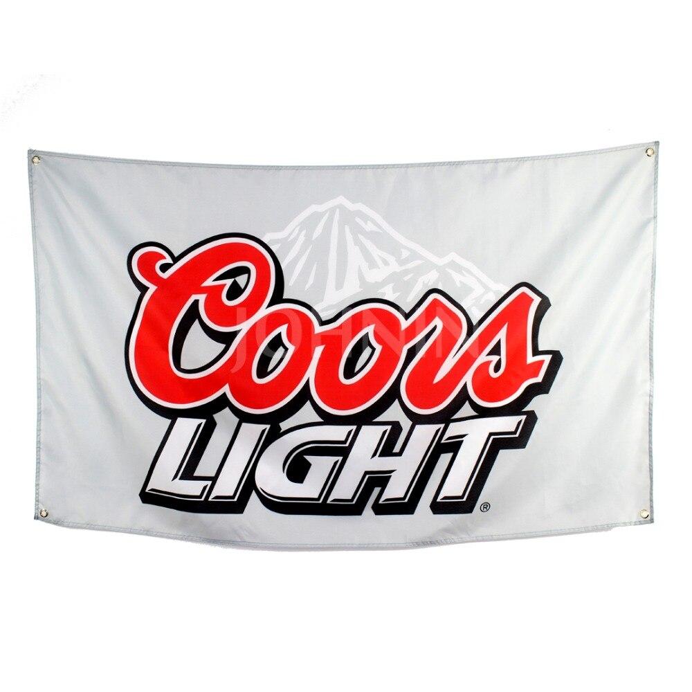 Johnin Poliéster Colgante Cerveza Publicidad Promoción Coors Light Bandera