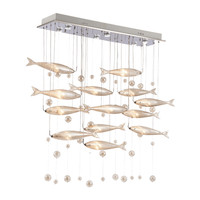 HAIXIANG LED LED Unique Crystal Chandelier Restaurant Ceiling Lamp New Lamp Flying Fish Decoration Lighting