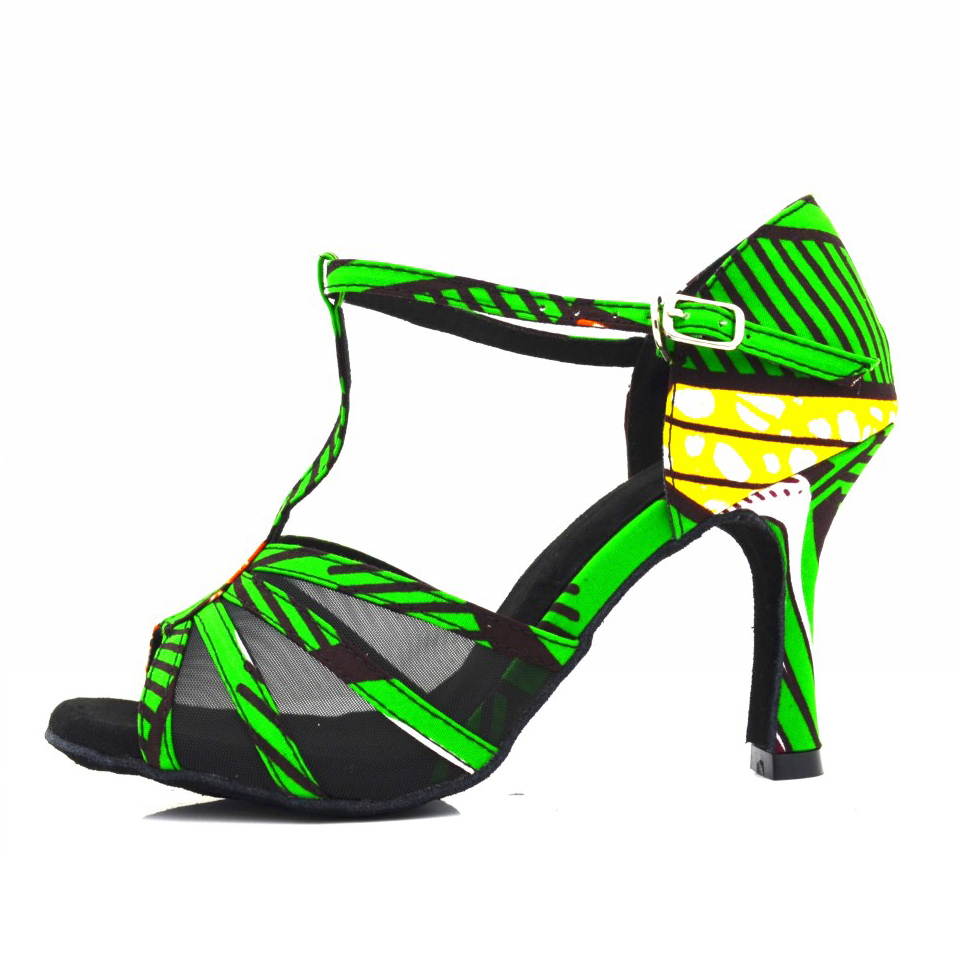 Latine Chaussures Africain De Dames Danse Noir Rouge Evkoodance 2018 PXkTuiOZ