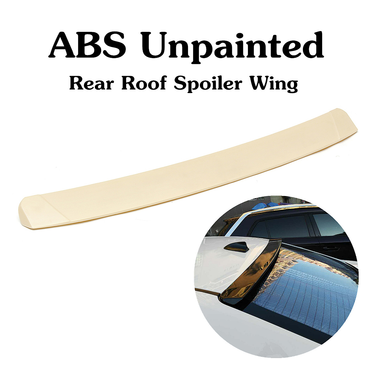 ABS Unpainted Rear Roof <font><b>Spoiler</b></font> Wing Fit For 2014-2017 <font><b>Toyota</b></font>-<font><b>Corolla</b></font> 4DR Sedan 109x11cm Auto Replacement Exterior Parts image