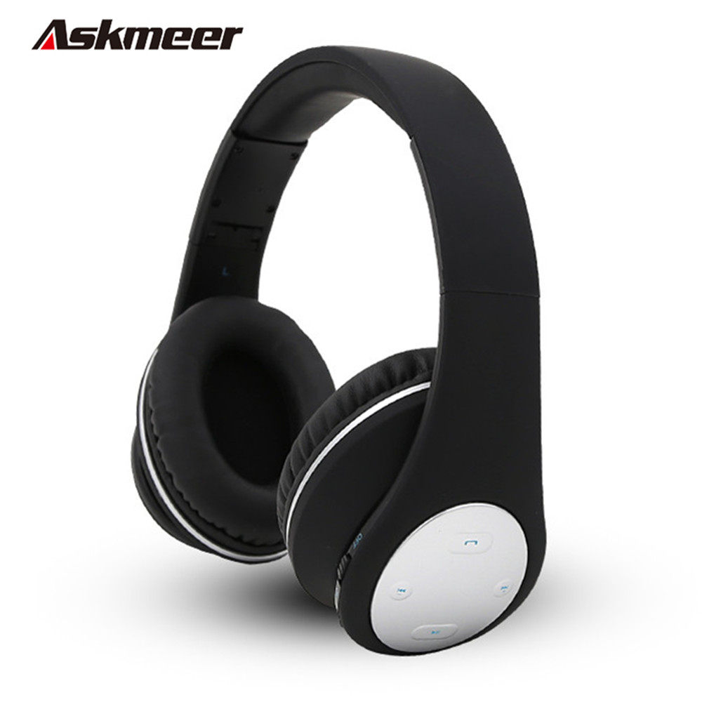 Askmeer HIFI Wireless Bluetooth Headphone Foldable Blue tooth Headsets Stereo Music Headset with Mic Handsfree for iPhone Xiaomi high quality portable wireless bluetooth stereo foldable headphone with built in mic speaker for music
