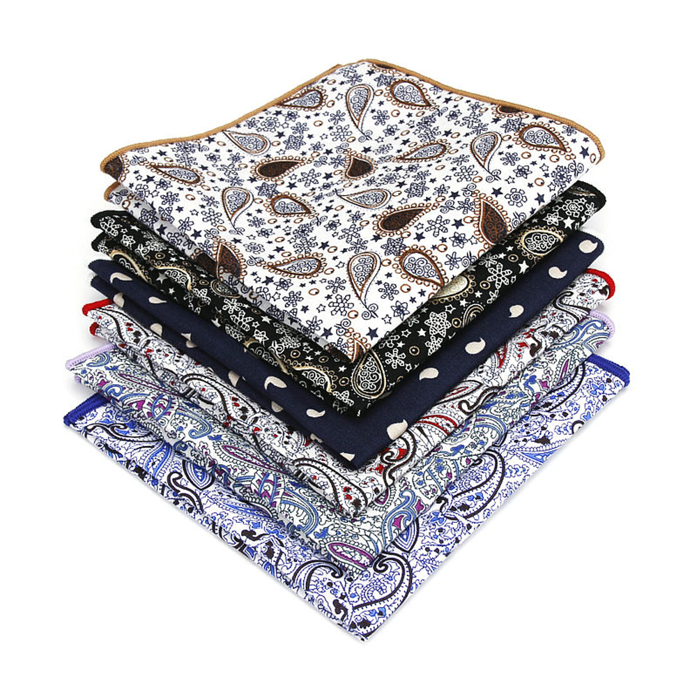 Gentleman Pocket Square Men's Paisley Pattern Hanky Wedding Party Handkerchief YFTIE0222