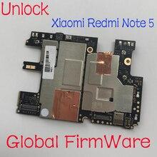 Microprogramme Global Original déverrouiller la carte mère de panneau électronique de travail pour Xiaomi RedMi Note 5 hongmi Note5 carte mère frais Circuits
