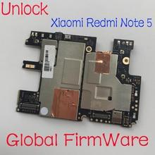 Placa mãe para xiaomi redmi note 5, firmware global, desbloqueio original, painel eletrônico, circuitos de taxa de placa mãe