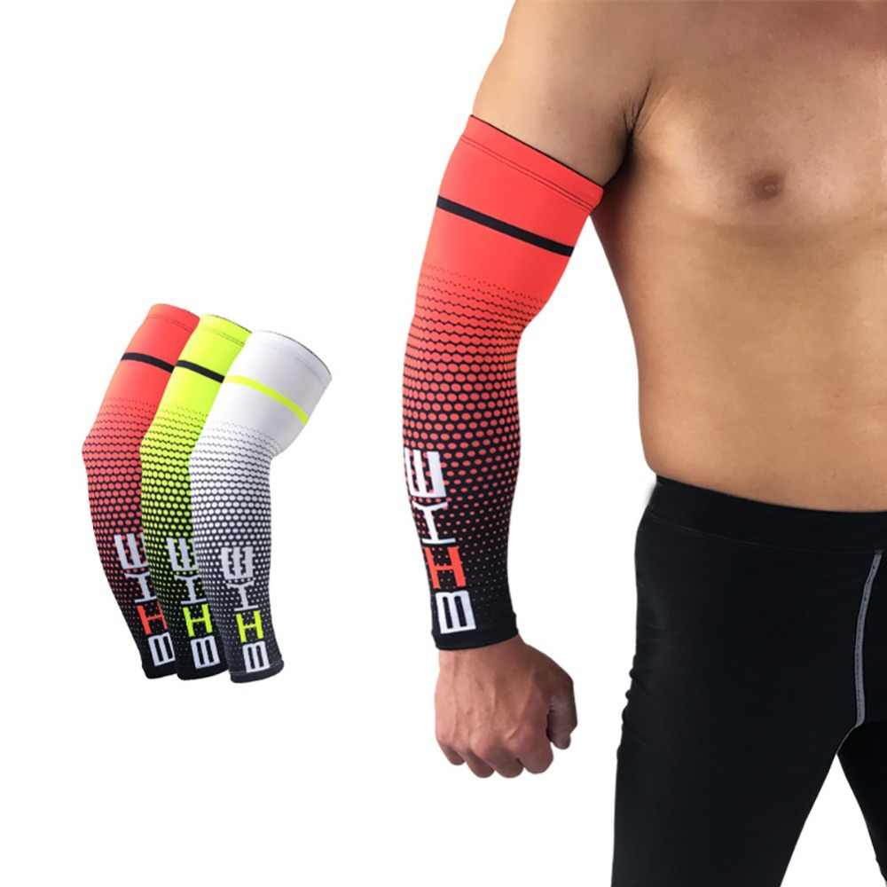 1 Pair Cycling Bike Bicycle Arm Warmers Silk Sleeve Cover UV Sun Protection