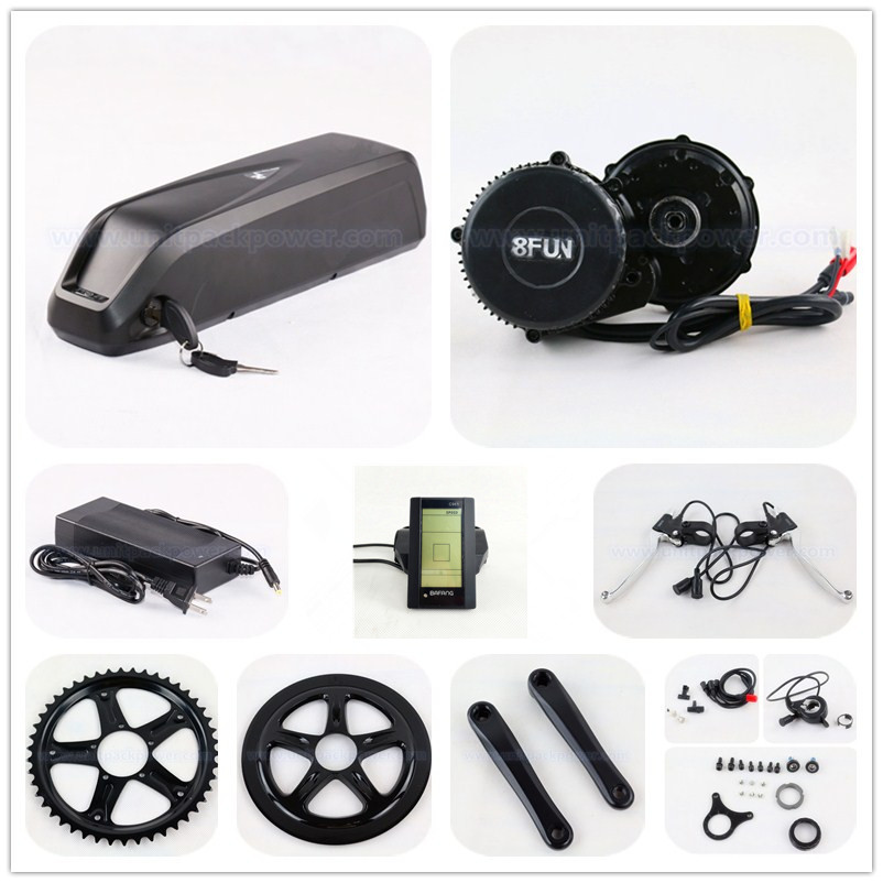 цена на 48V 750W BBS02 8fun / Bafang mid crank drive motor ebike kit with 48v 11.6ah down tube lithium ion battery