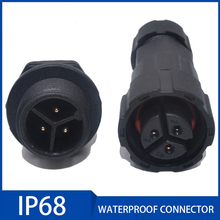 цена на 1PC IP68 Waterproof Connector Aviation Plug Socket Dustproof Connector 2/3/4/5/6/7/8/9/10/11/12Pin for Outdoor Led String Light