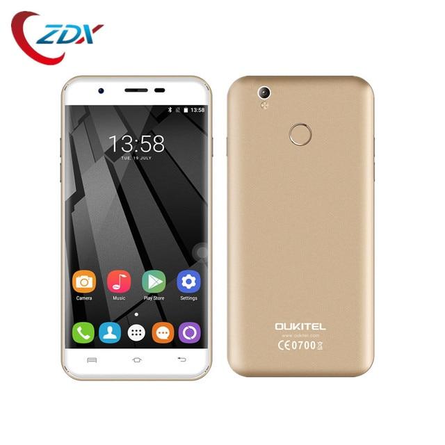 Original Oukitel U7 Plus/U7 Pro Unlocked Smartphone 5.5 inch Android 6.0 MT6737 Quad Core HD 2GB+16GB 4G LTE 13.0MP Fingerprint