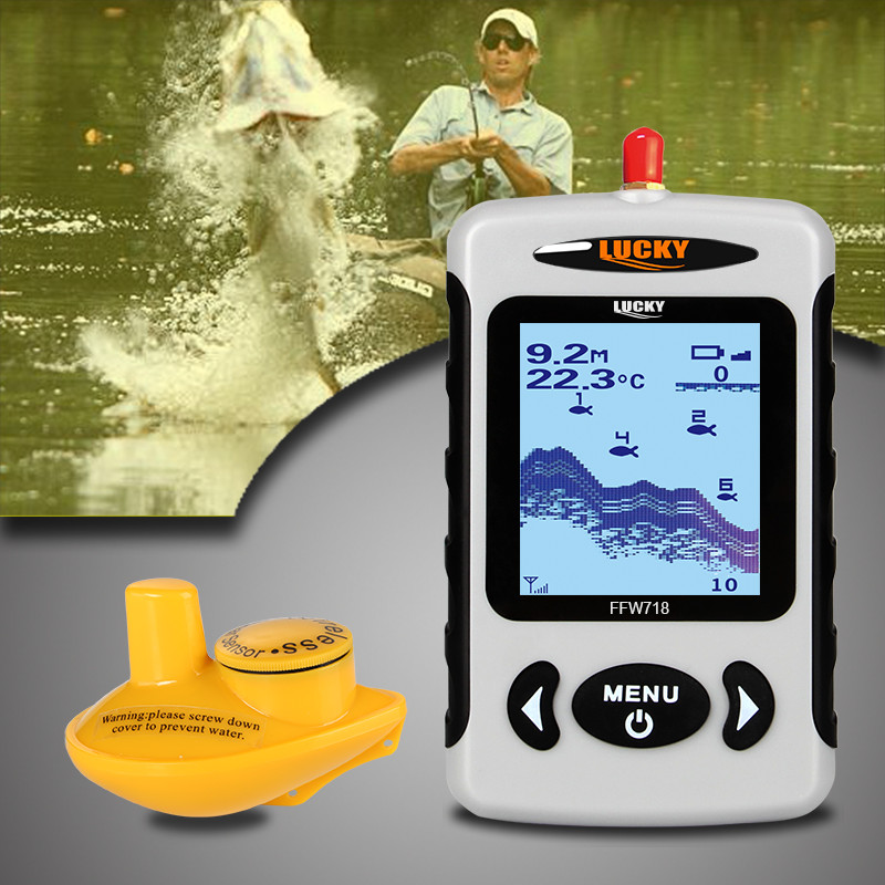 Deeper Findfish FFW718 Wireless Remote Sonar Sensor FishFinder Depth Sounder Alarm 100M Water Depth Electronic Fishing Lure цена