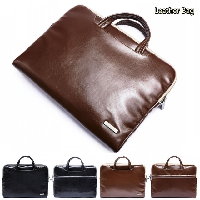 "Newest Leather Handbag For Laptop 11"",13"",15"" Sleeve Case Bag For MacBook AIR/PRO 13.3"",15.4"",Notebook 15.6 inch,Free Drop Ship"