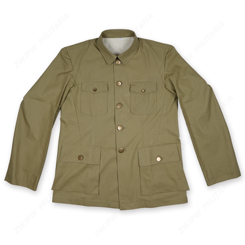 WW2 CHINA KMT MEN AMERICAN STYLE SUIT ARMY Grass Green Officers Jacket Copy Film Export Pure Cotton