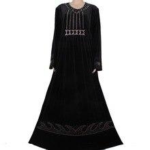 Muslim abaya in dubai jilbabs islamic clothes for women hijab dubai exquisite beading kaftan muslim dress 85MD1016