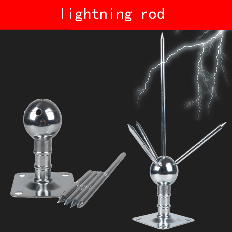No rust copper Round ball lightning rod 37CM high rooftop